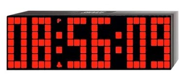 Large Lattice LED Multi-Alarm / Countdown / Up Clock with Remote by Big Time Clocks