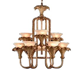 10 - Light Shaded Tiered Chandelier By JB Hirsch Home Decor