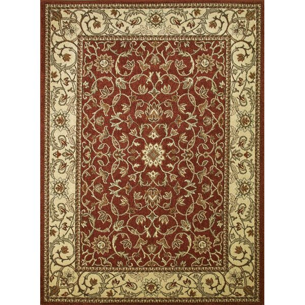 Chester Flora Red Rug by Threadbind