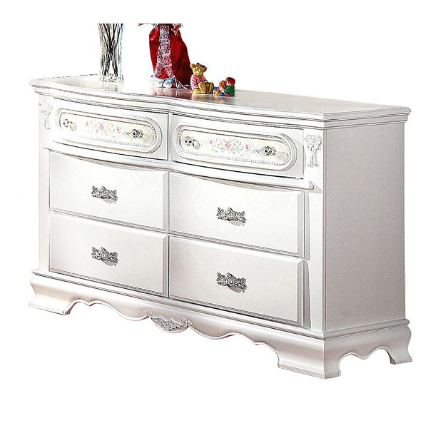 Boyer Wooden 6 Drawer Standard Dresser by House of Hampton