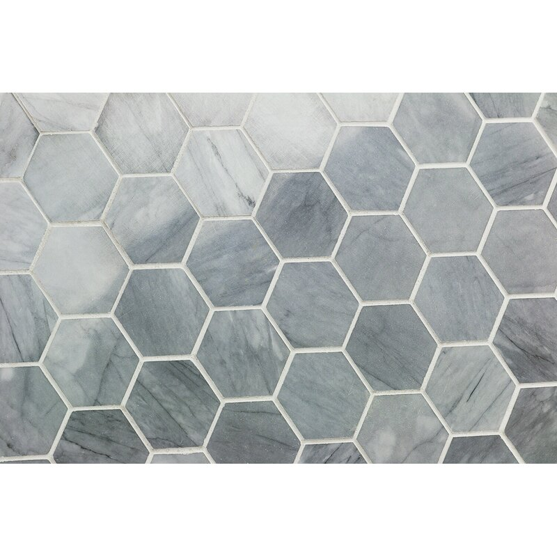 Ivy Hill Tile Stowe Hexagon Honeycomb 2 X 2 Marble Mosaic Tile