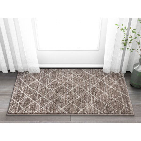 Vakte Modern Trellis Natural Area Rug by Union Rustic