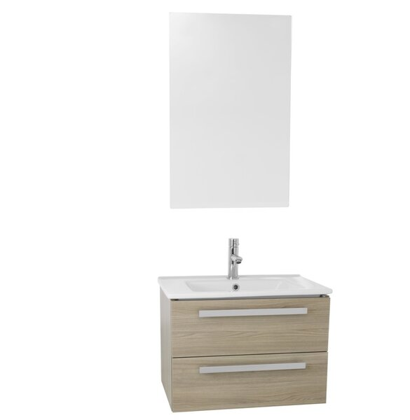 Dadila 25 Wall-Mounted Single Bathroom Vanity Set with Mirror by Nameeks Vanities