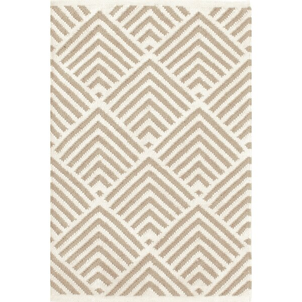 Cleo Grey / Ivory Cement Graphic Indoor / Outdoor Area Rug by Bunny Williams for Dash and Albert