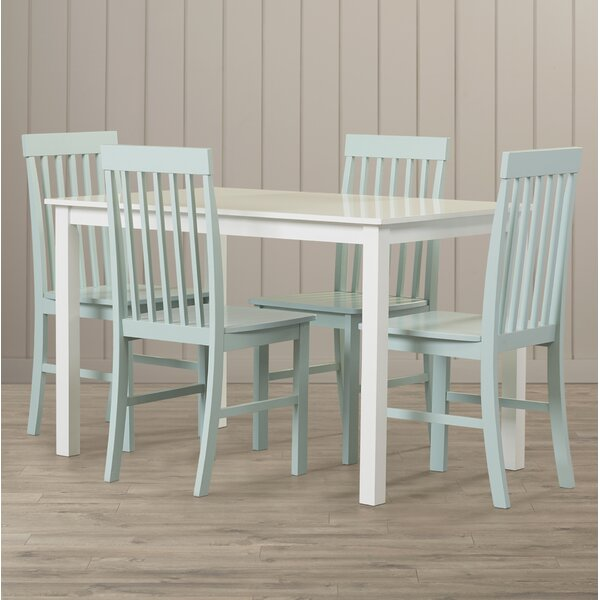 Cienna 5 Piece Dining Set by Beachcrest Home