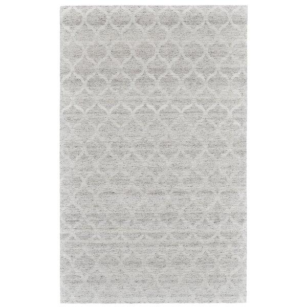 Brainard Hand-Woven Gray/White Area Rug by Alcott Hill
