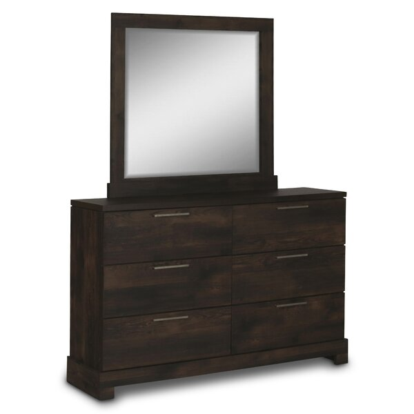 Nevels 6 Drawer Dresser with Mirror by Union Rustic