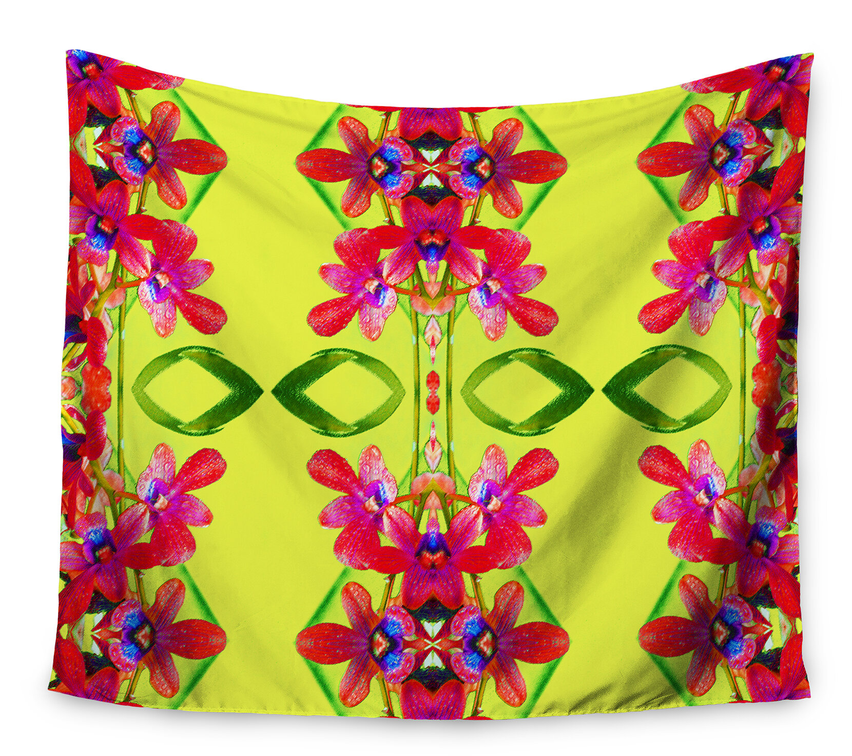 East Urban Home Tropical Floral Orchids 1\' by Dawid Roc Tapestry and ...