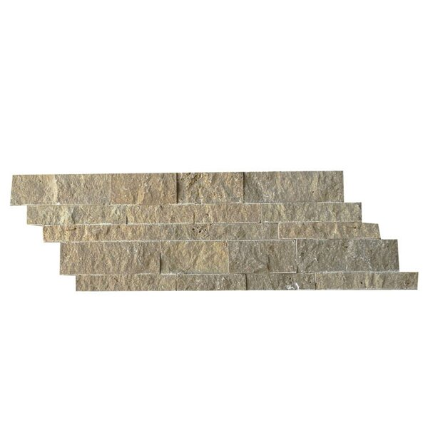 Natural Stone Mosaic Splitface Tile in Noce by QDI Surfaces