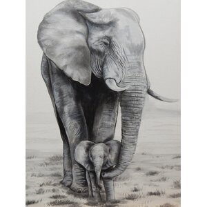 Elephant Love by Ed Capeau Painting Print on Wrapped Canvas by World Menagerie