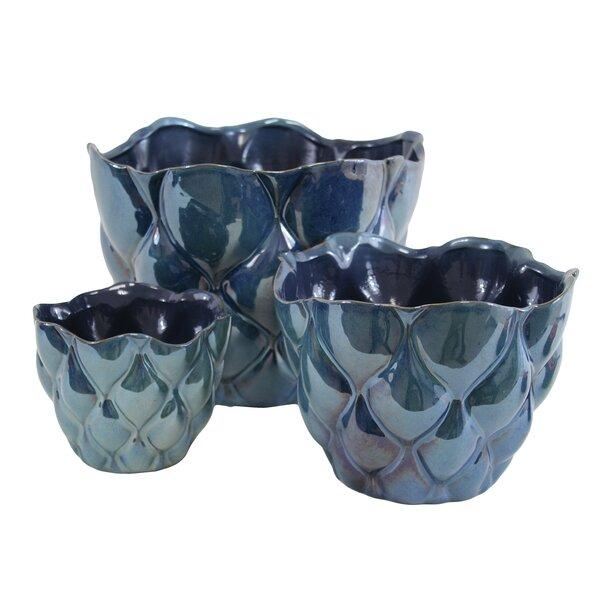 Sapphire 3-Piece Pot Planter Set by Selectives