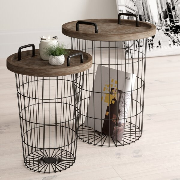 Janay 2 Piece Nesting Table by Zipcode Design