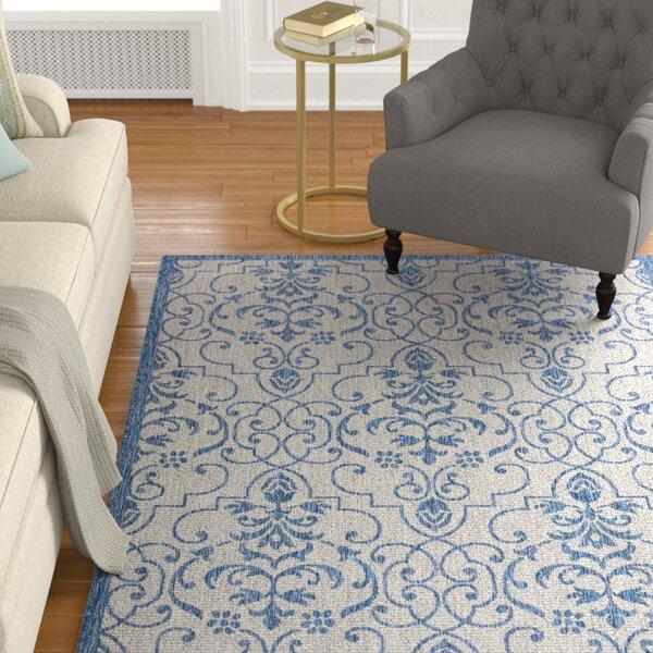 Bedervale Ivory/Blue Indoor/Outdoor Area Rug by Astoria Grand