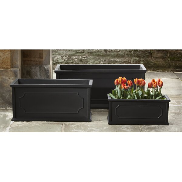 Waneta Large 3-Piece Fiberglass Clay Composite Window Box Planter Set by Darby Home Co