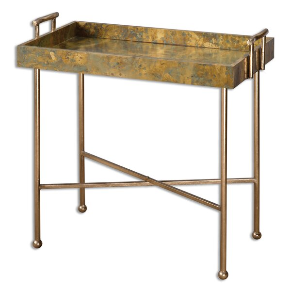 Couper Oxidized Tray Table by Uttermost