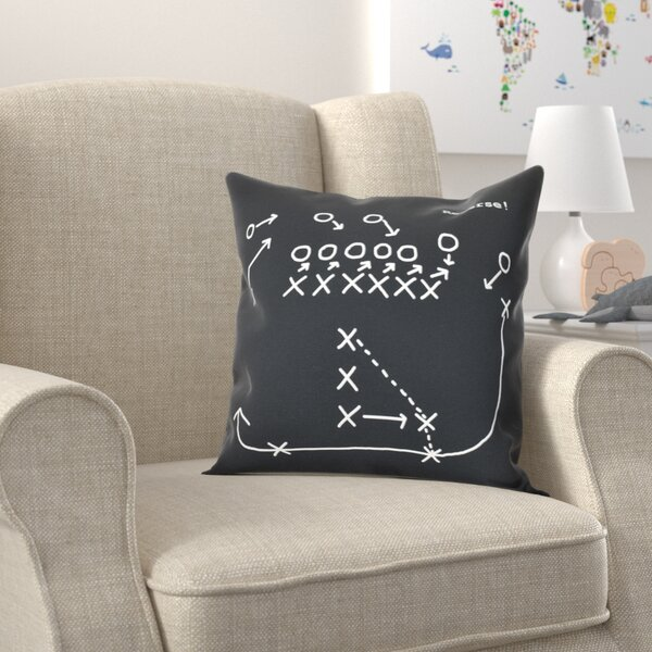 Bauer Reverse! Throw Pillow by Zoomie Kids