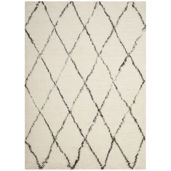 Erica Hand-Tufted Wool Ivory Area Rug by Gracie Oaks