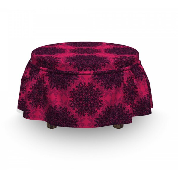 Baroque Roses Mandala Ottoman Slipcover (Set Of 2) By East Urban Home