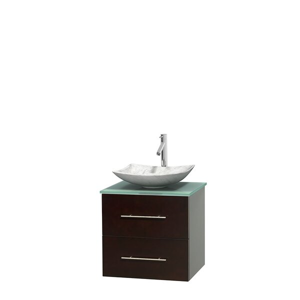 Centra 24 Wall-Mounted Single Bathroom Vanity Set by Wyndham Collection