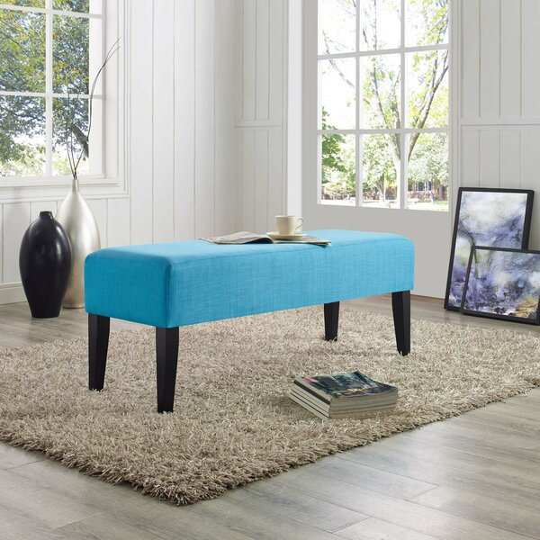 Abeale Upholstered Bench By Ebern Designs Great price