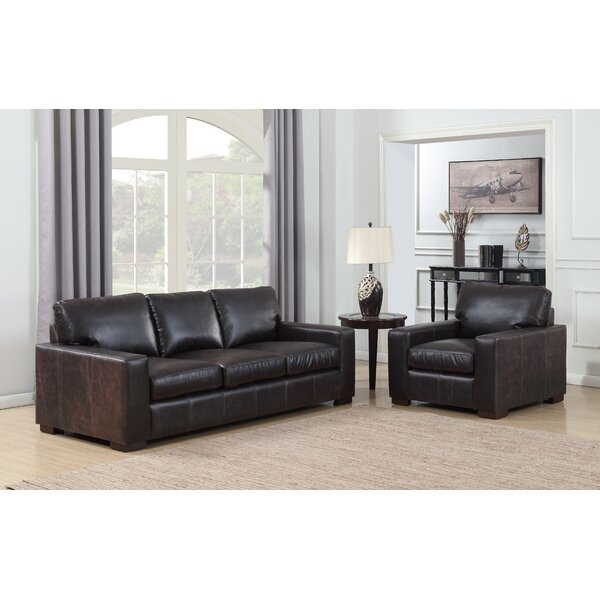 Priscila 2 Piece Leather Living Room Set by 17 Stories 17 Stories