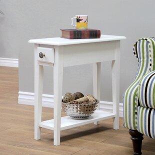 Buy clear Roopville Chairside Table ByAlcott Hill