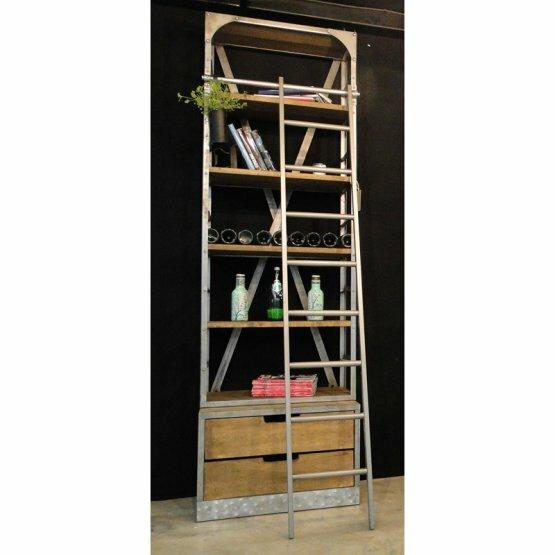Clausen Vintage Ladder Bookcase by 17 Stories