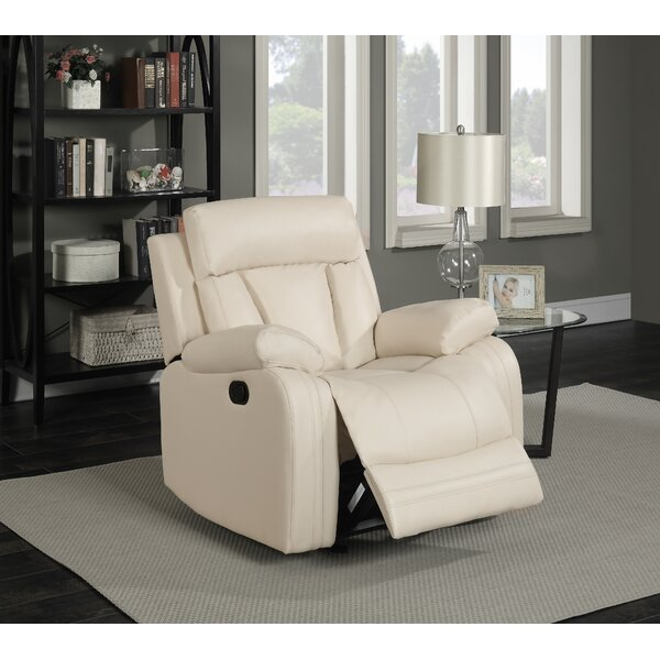 Martha Leather Manual Glider Recliner