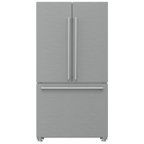 19.86 cu. ft. Energy Star Counter Depth French Door Refrigerator by Blomberg