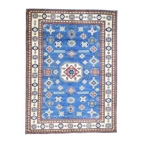 One-of-a-Kind Tillotson Hand-Knotted Denim Blue Area Rug by Millwood Pines