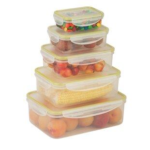 Locking 5 Container Food Storage Set
