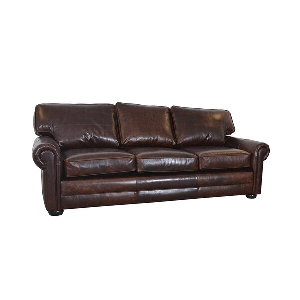 Cheapest Price For Fenway Genuine Leather Sofa by Westland and Birch by Westland and Birch