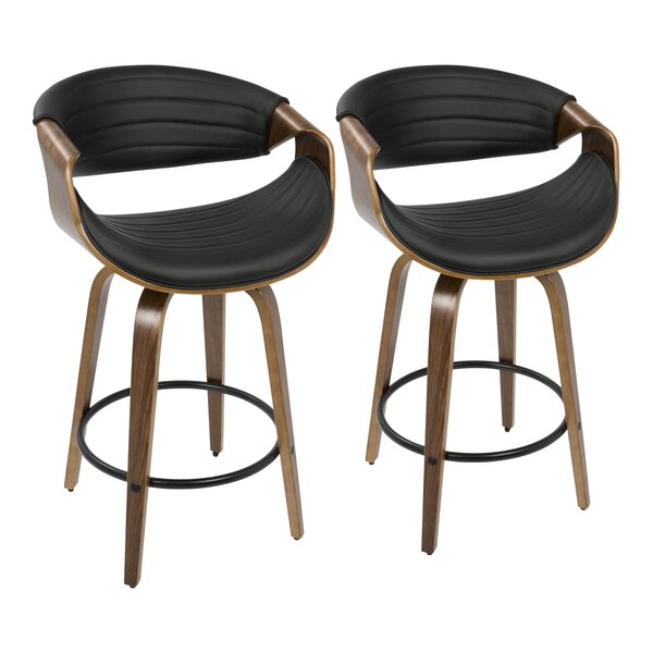 Zigler 26 Swivel Bar Stool (Set of 2) by Langley Street
