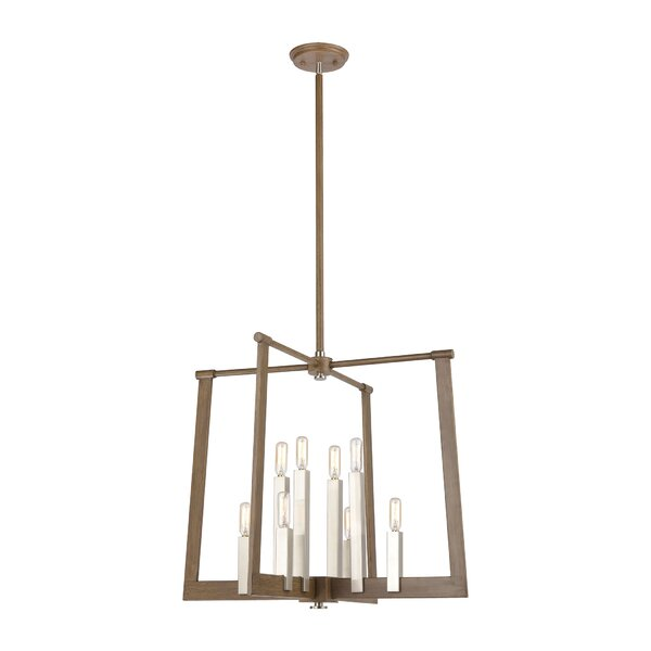Rosanne 8 - Light Unique Geometric Chandelier by Union Rustic Union Rustic