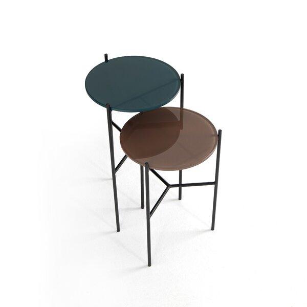 Aldor Glass Top 3 Legs Nesting Table By Latitude Run