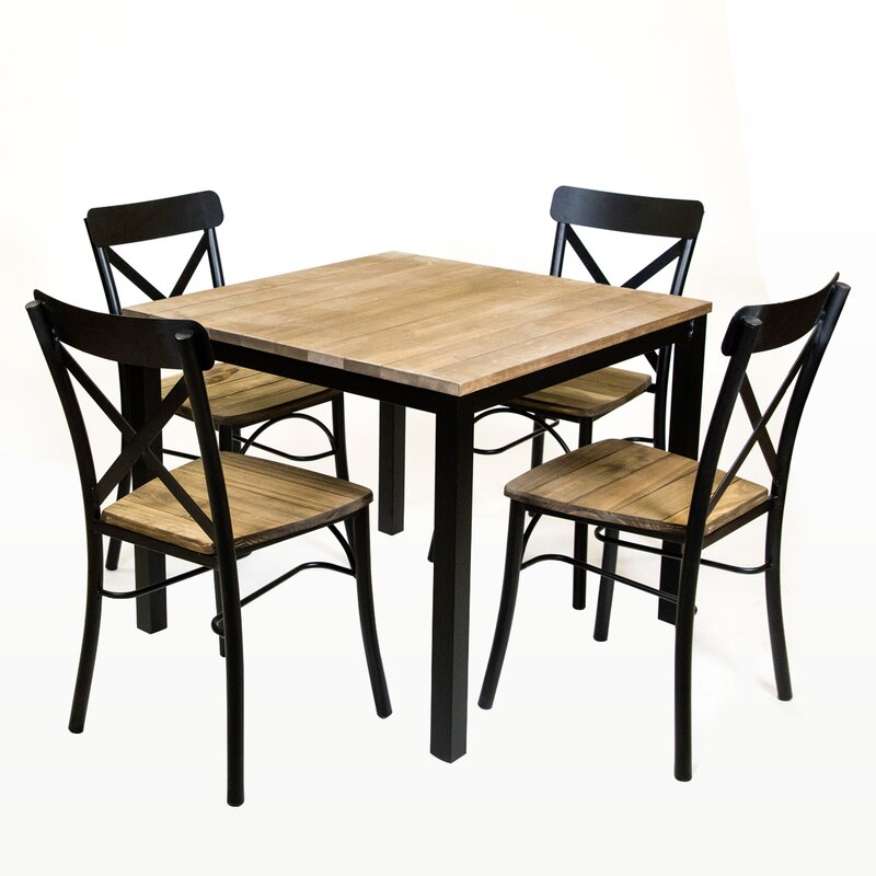 rezfurniture standard square vintage dining table & reviews   wayfair