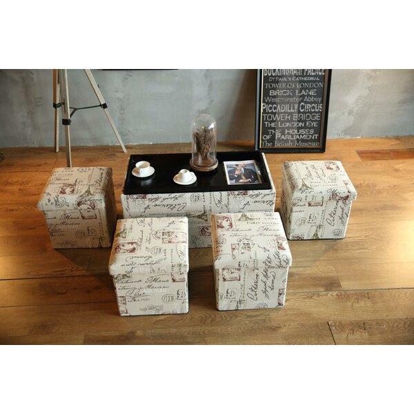 Donvers 5Piece Storage Ottoman Set by Charlton Home