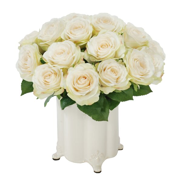 Rose Bouquet in Canister Vase by Winward Silks
