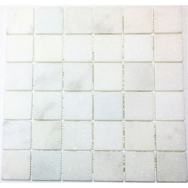 2 x 2 Mosaic Tile in Bianco Venantino by Ephesus Stones