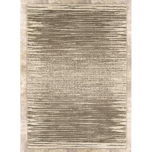 Casa Faux Leather Beige Area Rug by Ottomanson