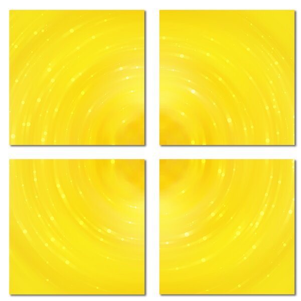 Custom 6 x 6 Beveled Glass Field Tile in Yellow by Upscale Designs by EMA