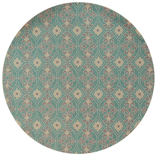 Edinburgh Handmade Aqua Indoor/Outdoor Area Rug by Charlton Home