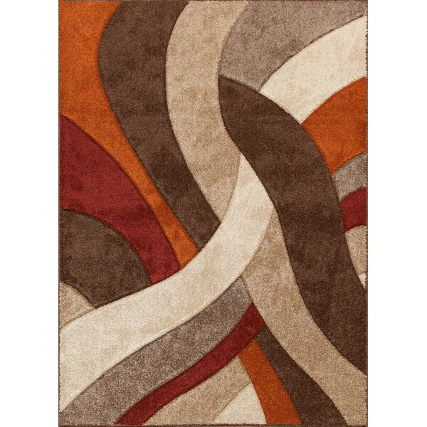 Alford Brown/Red Area Rug by Threadbind