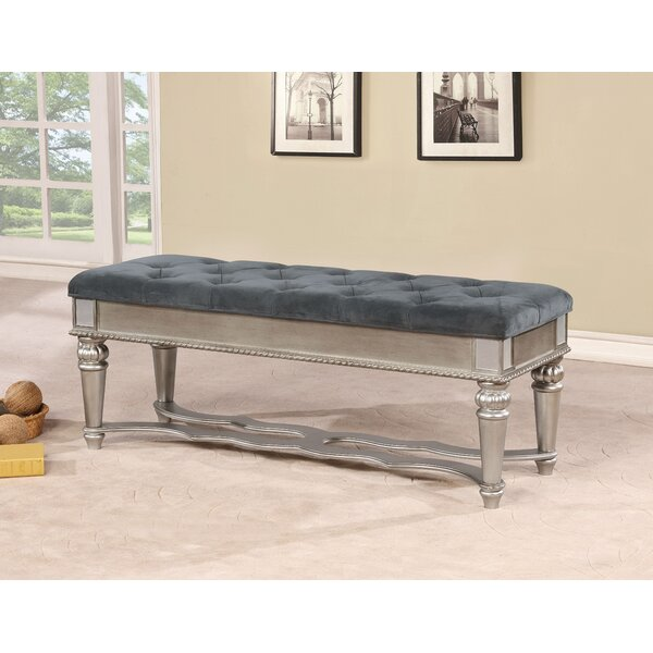 Mcdermott Traditional Wood Bench by House of Hampton