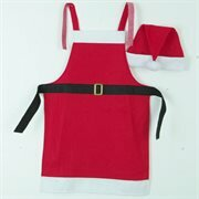 Red Santa Claus Apron and Hat by The Holiday Aisle