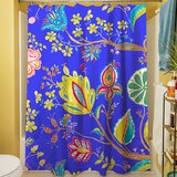 La Roque Summer Floral Single Shower Curtain by Manual Woodworkers & Weavers