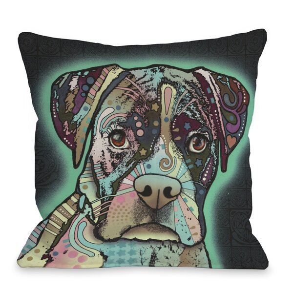 Doggy Décor Love Thy Boxer Throw Pillow by One Bella Casa