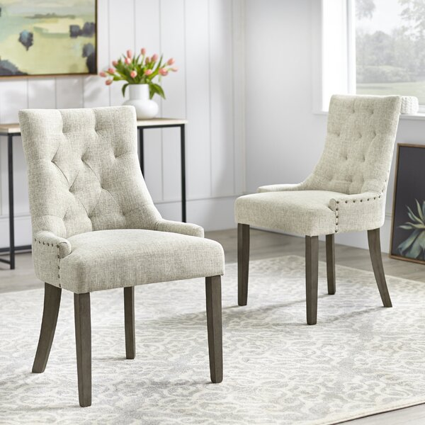 Find Vicini Upholstered Dining Chair (Set Of 2) By Ophelia & Co. Reviews
