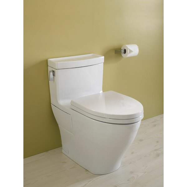 Legato Universal Height Skirted 1.28 GPF Elongated One-Piece Toilet with CeFiONtect by Toto