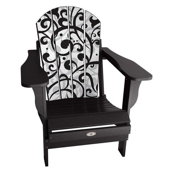 Kepler Swirl Plastic Folding Adirondack Chair by Latitude Run